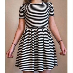 Striped LuLaRoe Amelia Dress